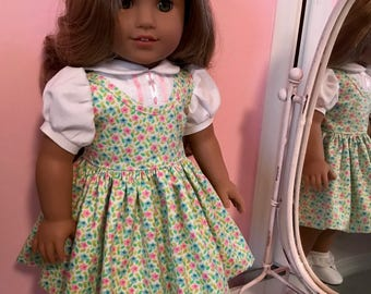 American made School dress made to fit  18 inch  Doll