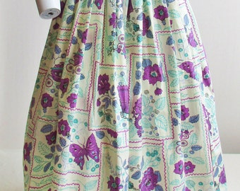 "NWT 1950's Novelty Print Circle Skirt and Belt 24"" Waist"