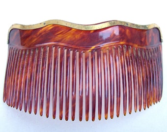 Victorian Edwardian faux tortoiseshell hair comb hair accessory hair jewelry decorative comb headdress