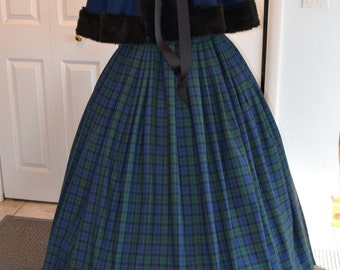 1860s Dickensian Civil War skirt and capelet - custom made to order
