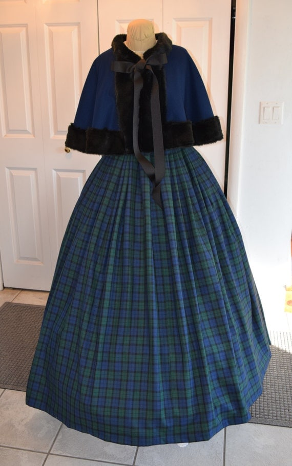 Vintage Inspired Scarves for Winter 1860s Dickensian Civil War skirt and capelet - custom made to order1860s Dickensian Civil War skirt and capelet - custom made to order $175.00 AT vintagedancer.com