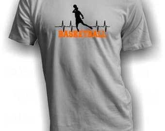 Basketball heartbeat - Basketball shirt - Slam dunk shirt - Basketball lover tee - Basketball T shirt - Basketball is life shirt - Bball tee
