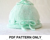 Hat Knitting Pattern - Hat Pattern - the TABITHA beanie (Newborn, Baby, Toddler, Child & Adult sizes incl'd)