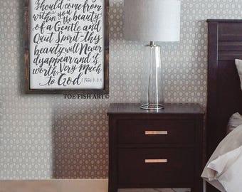 1 Peter 3 3-4 Wood Sign | Beauty Within | Bible Verse| Wooden |Scripture Wall Art | Wall Decor | Nursery Décor | Farmhouse Décor | Modern