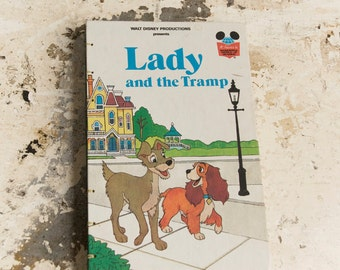 1981 LADY AND the TRAMP Vintage Book Journal