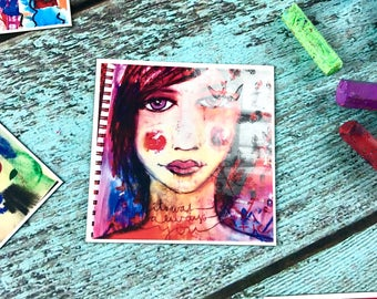 mixed media art magnet: it was always you