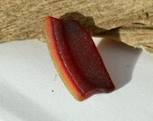 Reserved for Shirley - JQ AMBERINA LENS - Rare Red Sea Glass Shard - Scottish Beach Finds (4536)