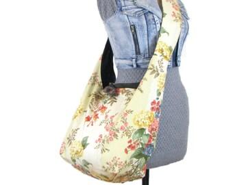 Crossbody Bag - Crossbody Hobo Bag - Extra Large Tote Bag - Cross Body Bag - Floral Bag - Sling Bag - Crossbody Purse - Vegan Bag