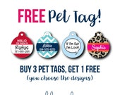 Discount Pet Tag SALE Buy 3 Get 1 Free Dog Tag Cat Tag Personalized Pet ID Custom Pet Tag