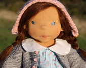 """Clearance SALE Waldorf doll Evelyn 18"""" Christmas present, Gifts for Girls, Children, birthday, OOAK dolls"""