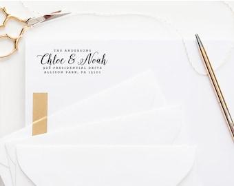 Return Address Stamp, Custom Address Stamp, Wedding Stamp, Self-Inking Address Stamp, Personalized Address Stamp, Wedding Stamp with Heart