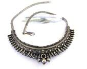 "RESERVED - Antique Sri Lanka Solid Silver Necklace, 46cm (18""), Sinhalese  Filigree Necklace, Antique Indian Necklace, 80 Grams"