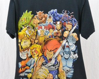 Vintage Thundercat T Shirt, Size Medium, 80's Cartoon, Hipster, Tumblr Clothing, Rad, Cats, Quirky, 90's Clothing