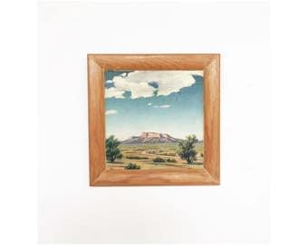 Vintage Desert Plateau Oil Painting