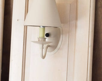 Wall Mounted Salvaged Doors Bedside Lights Set of Two French Farmhouse Style Hanging or Leaning