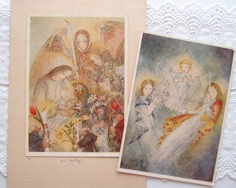 1930s Sulamith Wulfing Color Art Prints...Der Festagg and Der Kristal