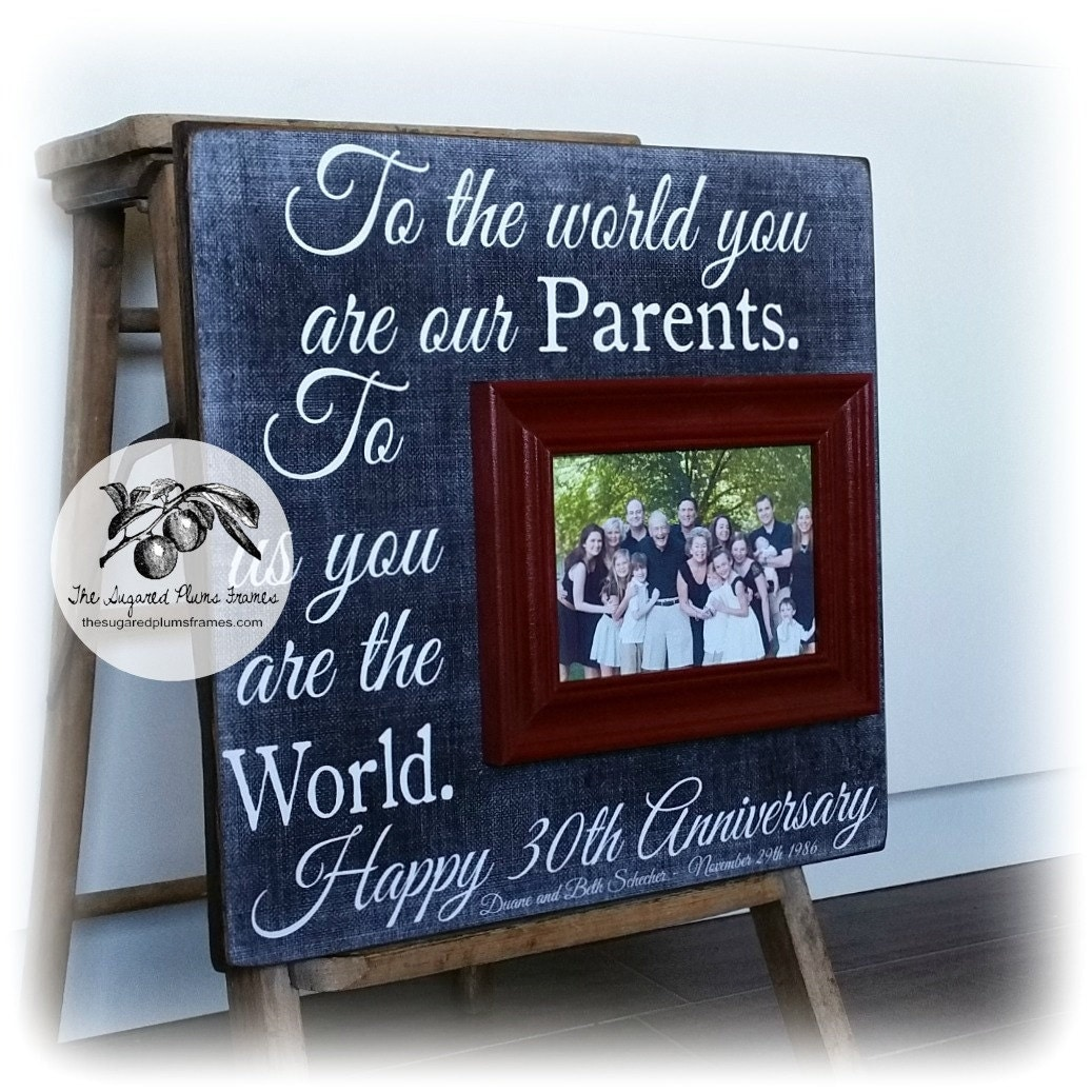 Gift For Wedding Anniversary Of Parents: Parents Anniversary Gift 30th Anniversary Gifts 50th