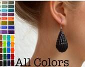 DROP Earrings made of corrugated cardboard
