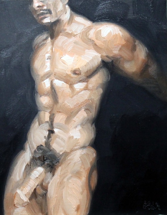 Richard Peterjohn, oil on canvas panel, 11x14 inches by Kenney Mencher