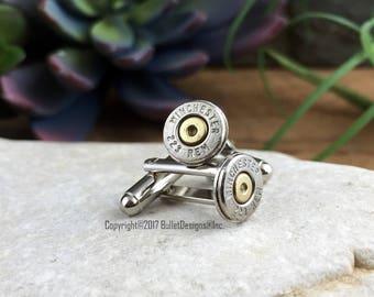 Bullet Cufflinks, Winchester 223 Nickel Bullet Cufflinks, Wedding Cufflinks, 223 Cuff Links, Bullet Cuff Links Wedding Cuff Links