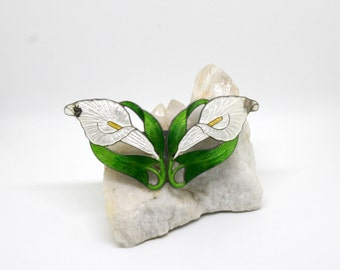 Cally Lily Art Nouveau Brooch