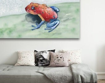 Watercolor Painting - Blue Jean Poison Dart Frog - Art Print