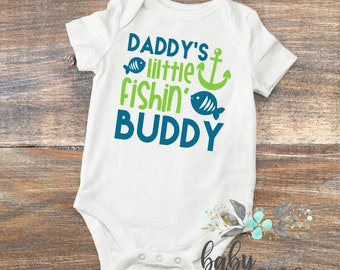 Baby Boy Clothes,Daddy's Little Fishin Buddy, fun baby shirt, fishing shirt, Take Home Outfit, Newborn baby, Father's Day Shirt, Baby Boy