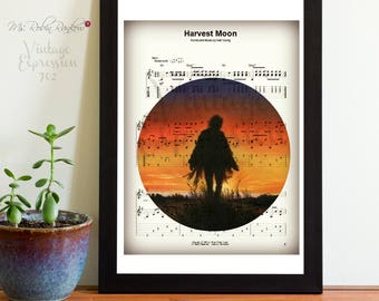 Harvest Moon, Neil Young, Music Sheet, Print