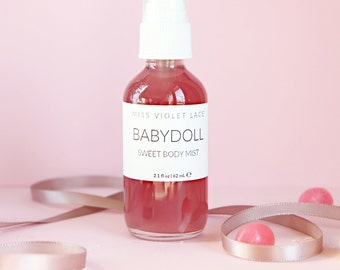 Sweet Body Mist | Body Spray with strawberry, jasmine and bubblegum | 100% natural and vegan