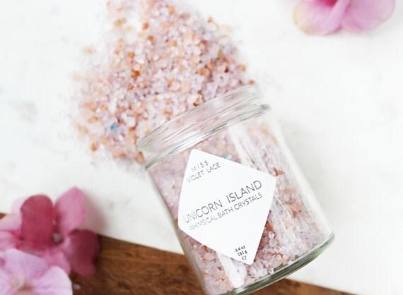 Unicorn bath salts easter gift natural vegan bath salts like this item negle Images