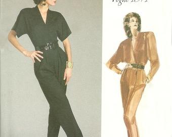 Vogue American Designer 1871 Anne Klein Misses' Jumpsuit Pattern Size 10 Bust 32 FF