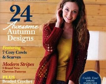 LOVE Of CROCHET Magazine Fall 2015 HEDGEHOG Cowls, Scarves, Beaded Crochet, Stadium Blanket, Messenger Bag, Sweaters, Infinity Scarf