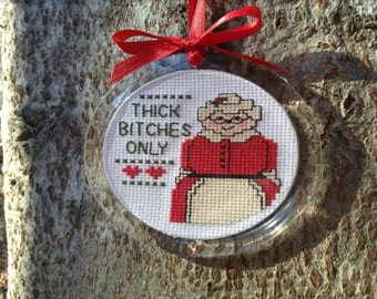 Santa Full He Just Ate - Instant Pattern