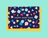 HAPPY NEW YEAR Greetings card w/ envelope