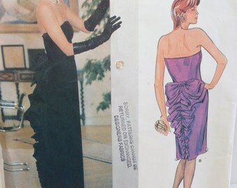 Womens Dress Pattern, Vogue 1275, Size 12, Bellville Sassoon Designer Original, Sewing Supplies