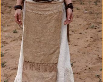 Panel Skirt ~ Raw Silk