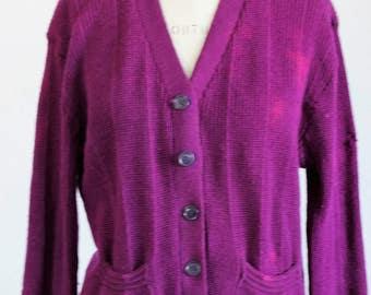 Purple wool sweater | Etsy