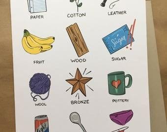 Fun & Awkward Anniversary Card - Gift Traditions