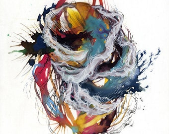 Coil XII / Giclee print / oversized large print / watercolor / abstract painting / contemporary / detailed