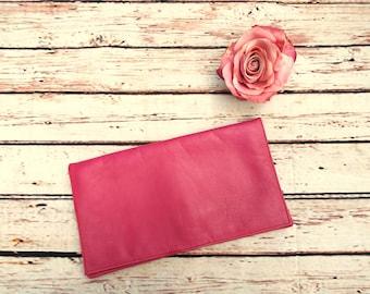 Vintage Pink Clutch - 80s Pink Clutch - Vintage Pink Purse - Faux Leather Clutch - Vintage Pink Bag