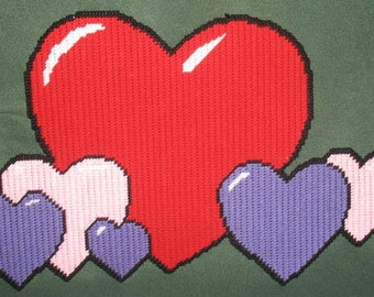 Hearts Plastic Canvas Pattern