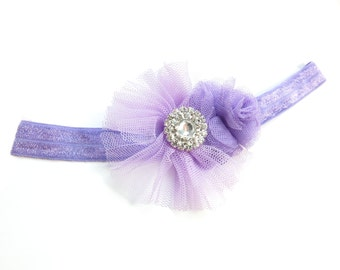 Lilac Embellished Baby Headband - 6/12 Months Old - Ready to Ship!