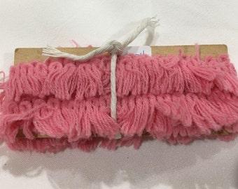 Fringe Trim, Vintage Pink Fringe Trim, Vintage Sewing Crafting Embellishing Trim