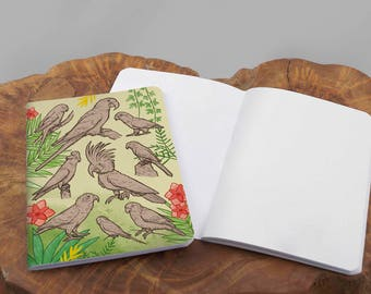 A6 Parrots Notebook