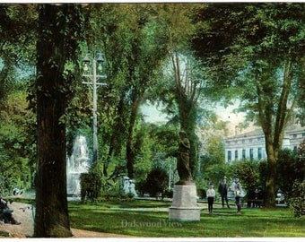 Syracuse N.Y. Fayette Park Postcard, Upstate New York, Statue, Antique 1907 Ephemera, FREE SHIPPING