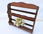 Vintage Spice Rack | Counter Top Rack | 2 Tier Wooden Shelf | Wood Wall Shelf