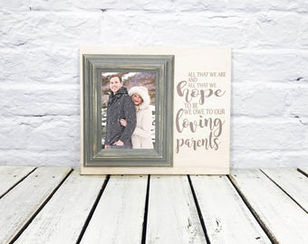 parents wedding gift, mother of the bride, father of the bride, wedding thank you gift, gift for parents, all that we are, personalized