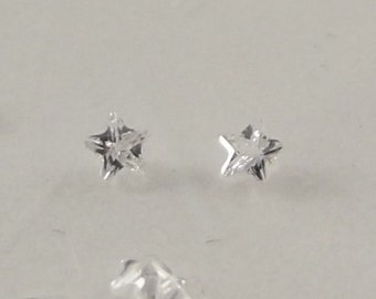 Star CZ's Lampwork Supplies Glass Bead CZ for Lampwork Star Shape Cubic Zirconia 2mm Star CZ