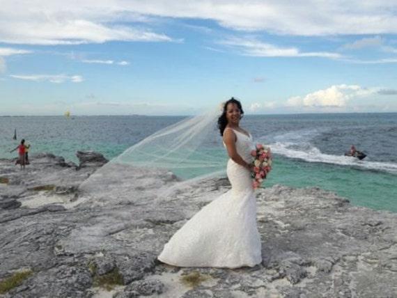 Wedding Veil Chapel Swarovski Crystal Rhinestone Bridal Accessories
