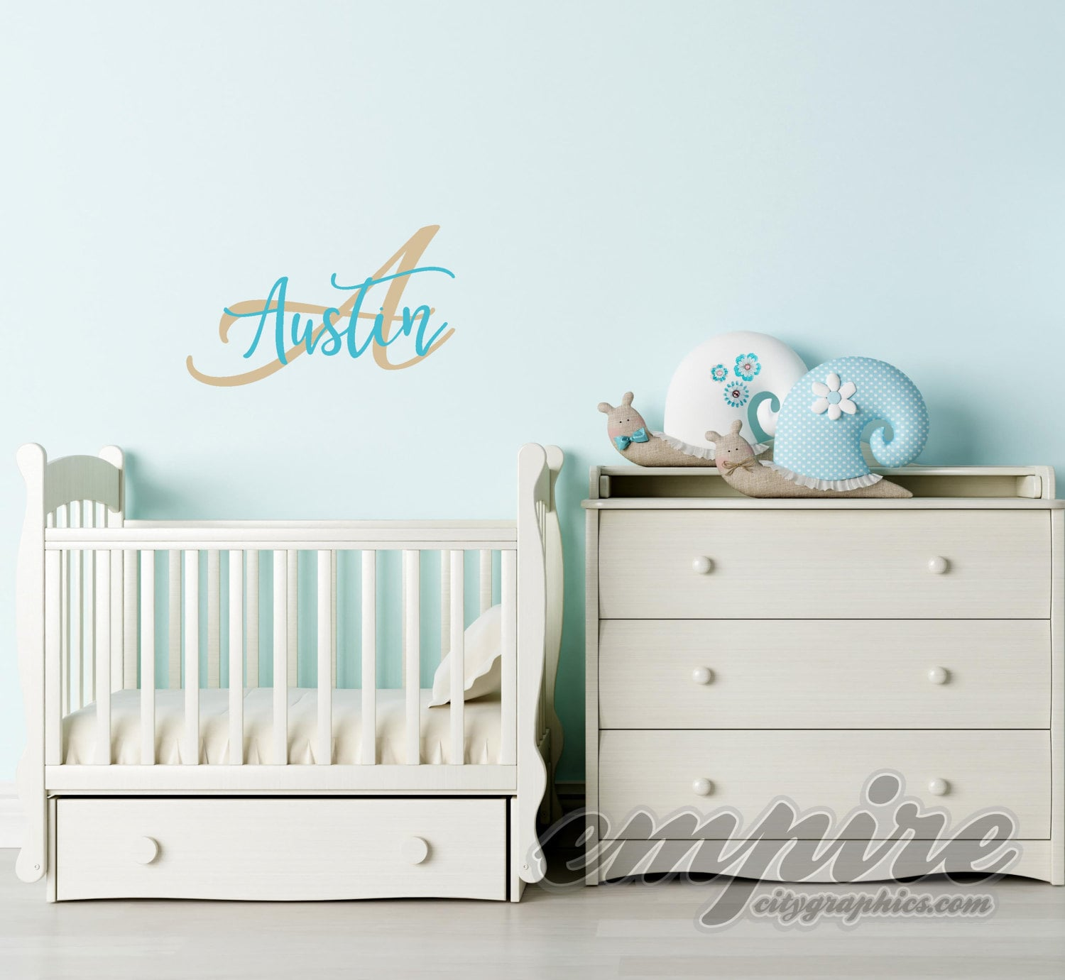 Custom Name Decal Personalized Name And Initial Nursery Wall - Custom name vinyl wall decals   how to remove